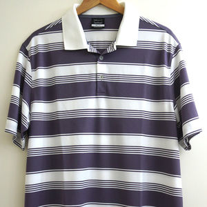 Nike Golf Two Color Multi Striped Shirt XL